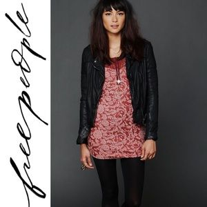 New Free People Copper Floral Lace Mini Dress MED